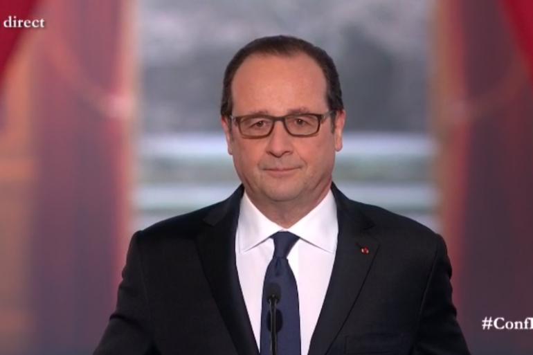 Début de la 5ème conférence de presse de François Hollande