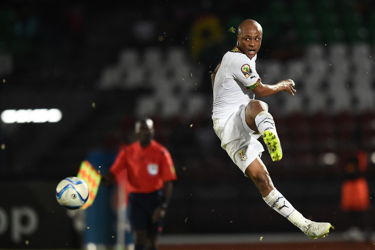 Andre Ayew sous les couleurs du Ghana en janvier 2015