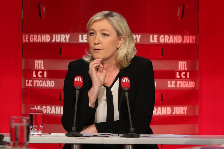 """Marine Le Pen, invitée du """"Grand Jury"""" du 8 février 2015"""