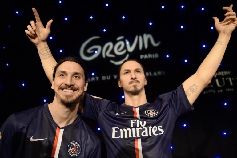 Difficile de distinguer le vrai Zlatan Ibrahimovic au musée Grévin le 9 février 2015