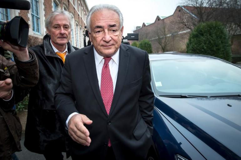 DSK à son arrivée au tribunal de Lille, le 12 février 2015.