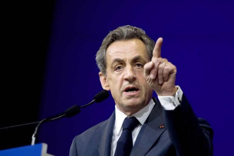 Nicolas Sarkozy lors d'un discours au congrès national de l'UMP, le 7 février 2015 à Paris.