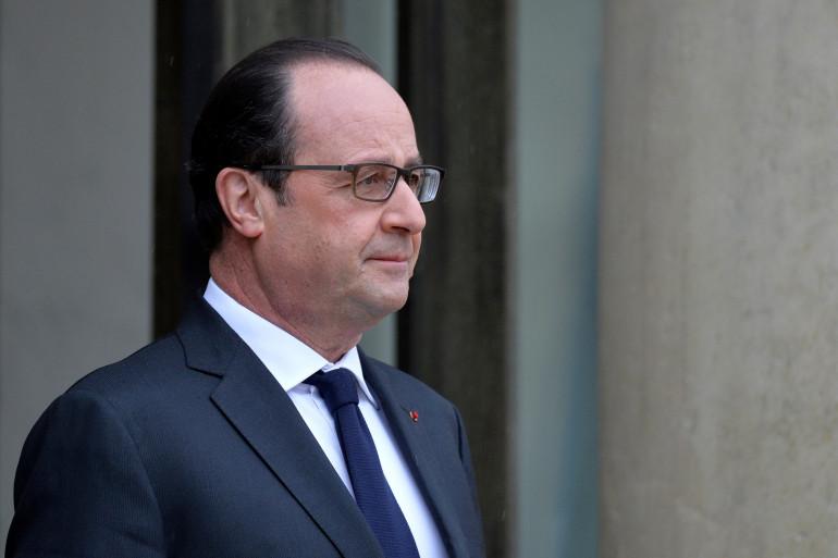 François Hollande à l'Elysée le 20 février 2015.