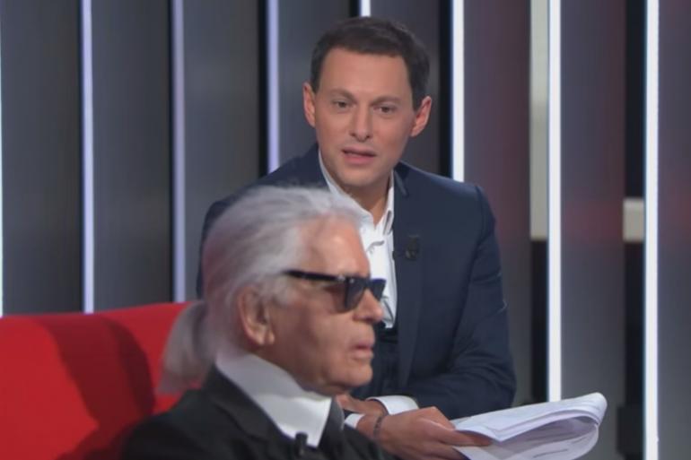 Karl Lagerfeld sur le divan de Marc-Olivier Fogiel