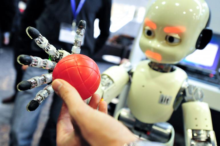 Un robot lors d'un salon sur les nouvelles technologies, à Budapest, le 4 mai 2011 (archives).