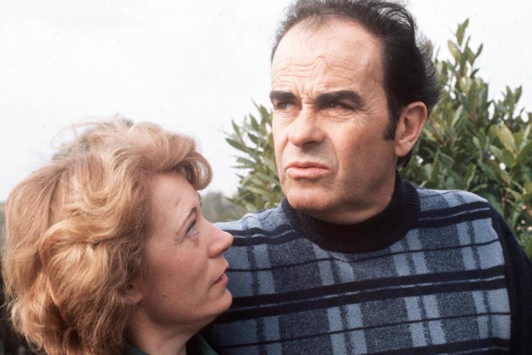Liliane et Georges Marchais, en février 1975 à Mougins (archives).