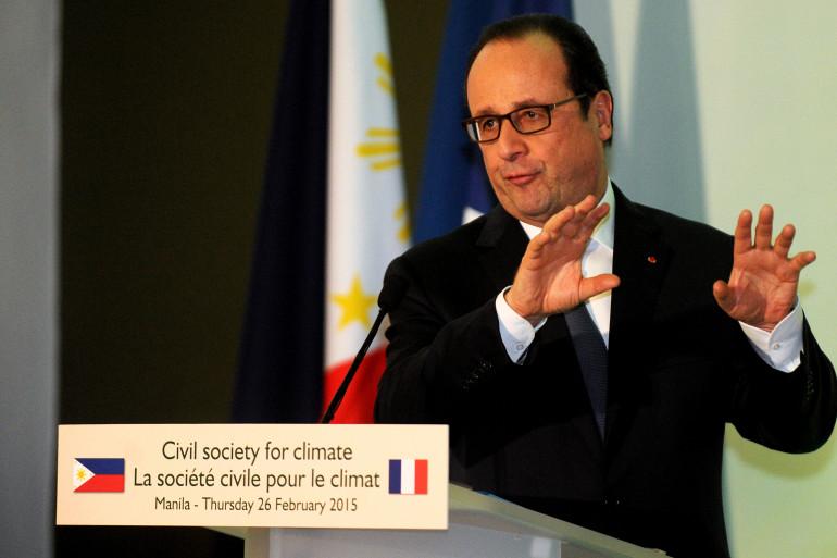François Hollande à Manille le 26 février 2015