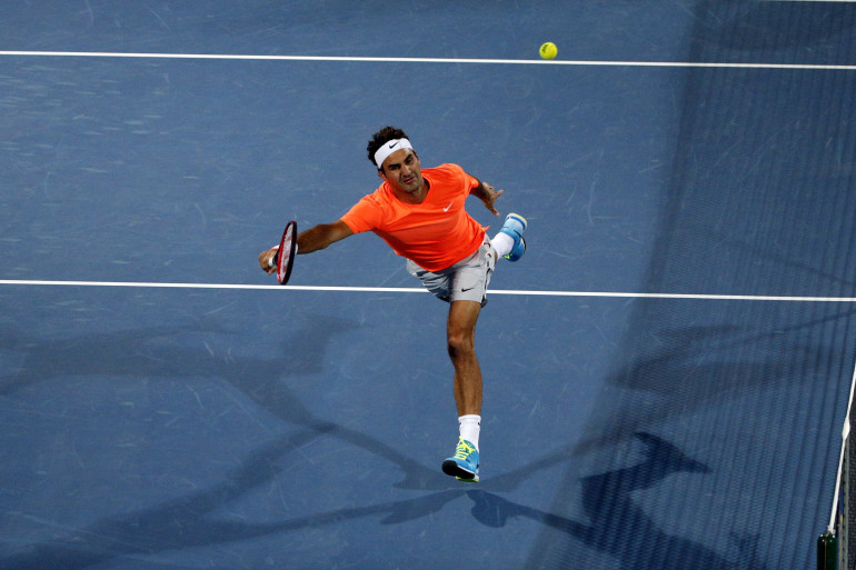 Roger Federer en février 2015 à Dubaï