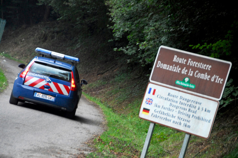 La route forestière proche de Chevaline où la famille al-Hilli et le cycliste ont été assassinés le 5 septembre 2012 (archives).