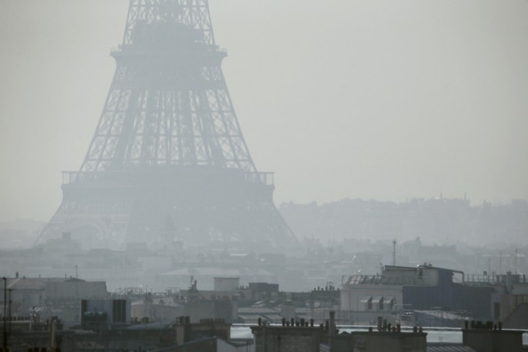 Paris lors de l'épisode de pollution de mars 2014 (illustration)