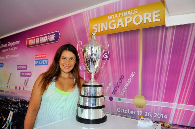 Marion Bartoli en août 2014 durant l'US Open