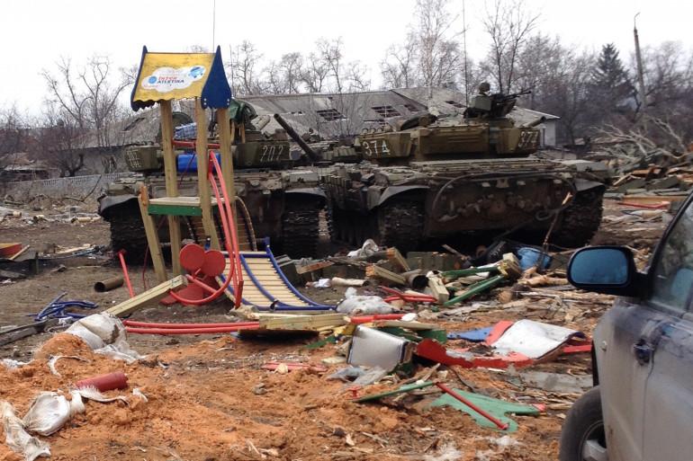 L'Ukraine dévastée par plus d'un an de conflit