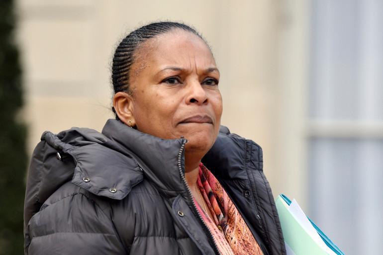 Christiane Taubira quittant le palais de l'Élysée, le 4 mars 2015.