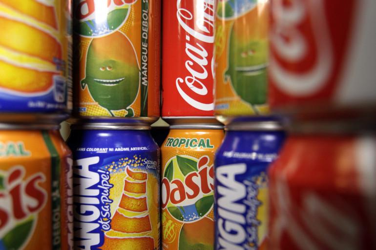 """Une grande partie des sucres sont """"cachés"""" dans des aliments comme les sodas (illustration)."""