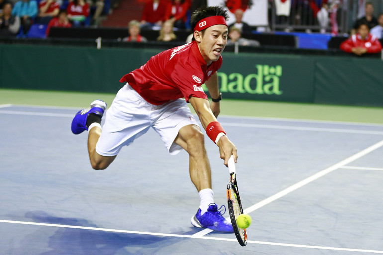 Kei Nishikori a apporté un point au Japon face au Canada.