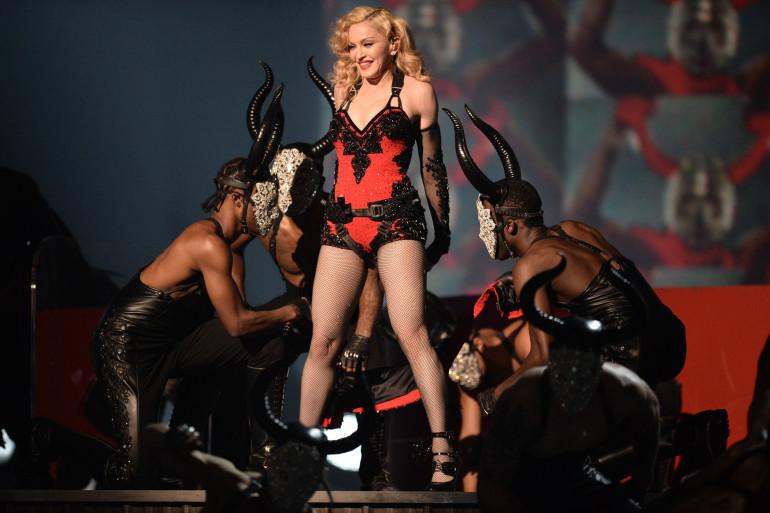 Madonna lors de la 57e cérémonie des Grammy Awards le 8 février 2015. (archives)