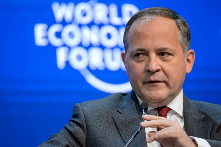Benoît Cœuré, membre du directoire de la BCE au Forum économique mondial de Davos, le 24 janvier 2015 (archives).