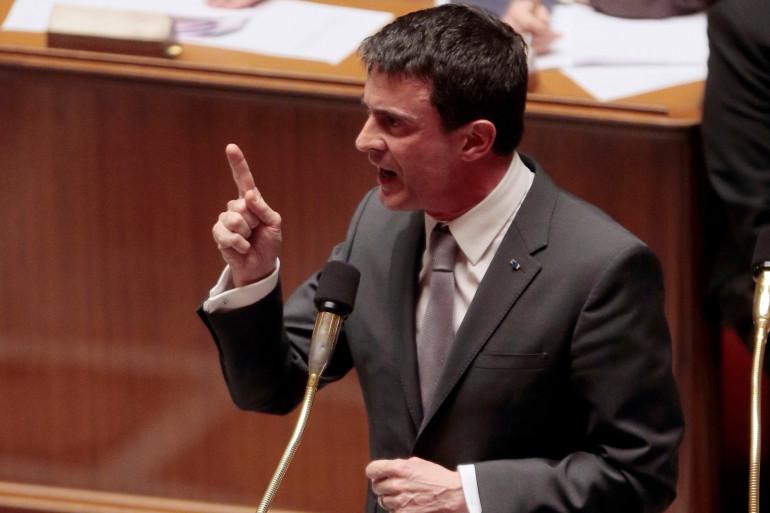 Manuel Valls le 10 mars 2015 à l'Assemblée nationale.