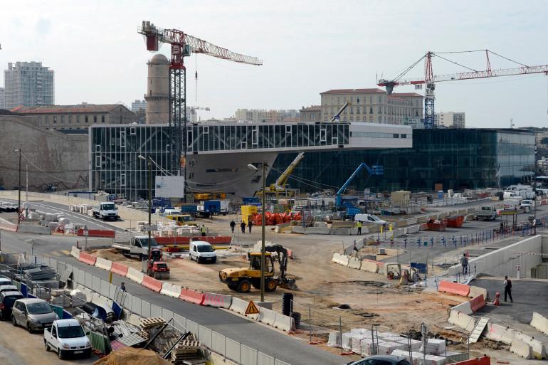 Un chantier à Marseille (Image d'illustration)