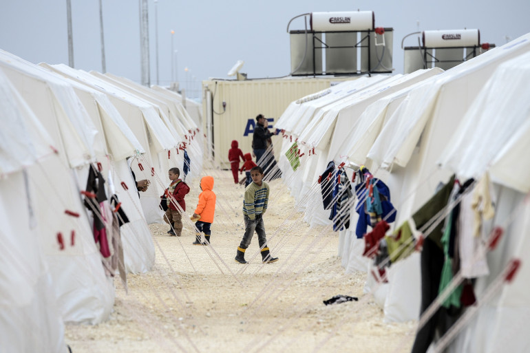 Des enfants kurdes syriens réfugiés dans le camp de Suruç en Turquie, le 30 janvier 2015 (illustration).