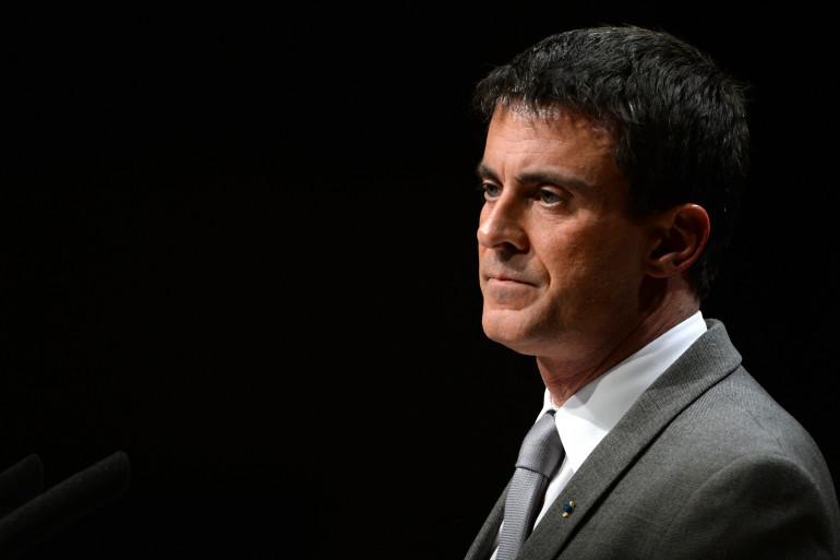 Manuel Valls à Tulle le 19 mars 2015.