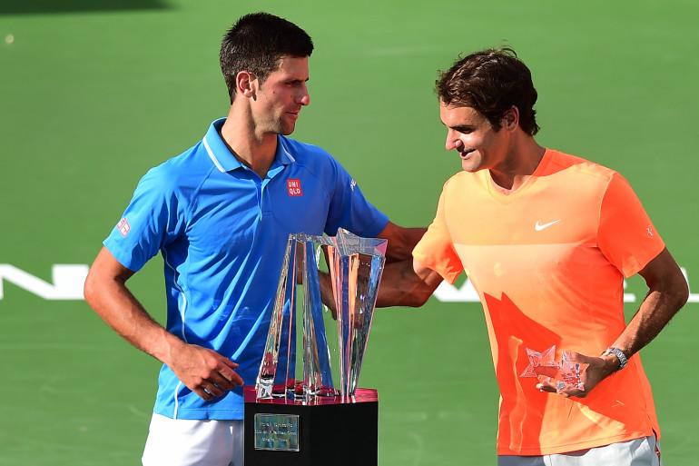 Novak Djokovic et Roger Federer dimanche 22 mars 2015