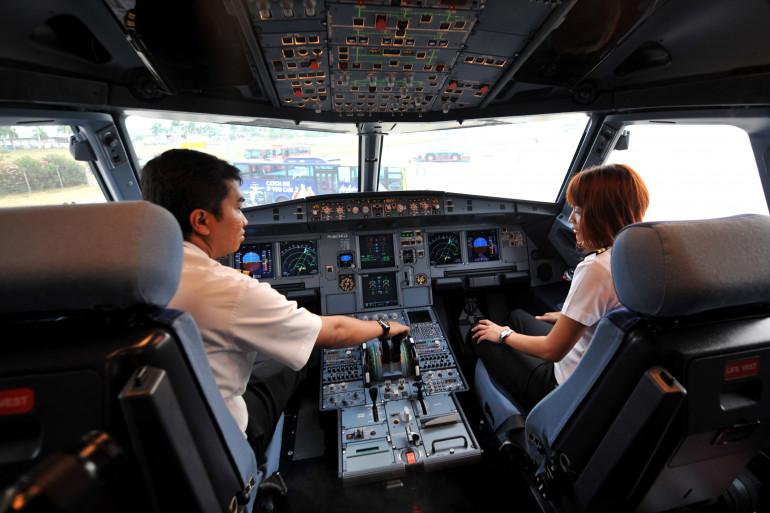 Le cockpit d'un Airbus A320 (image d'illustration)