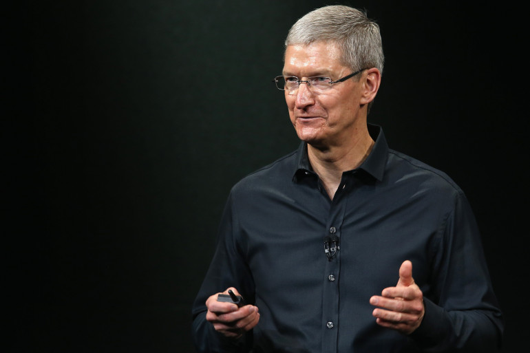 Tim Cook lors d'une présentation Apple, le 10 septembre 2013, à Cupertino en Californie (archives).