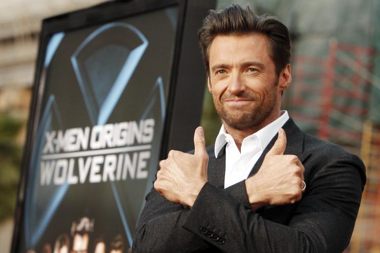 """Hugh Jackman en 2009 lors de la sortie de """"X-Men Origins : Wolverine"""""""
