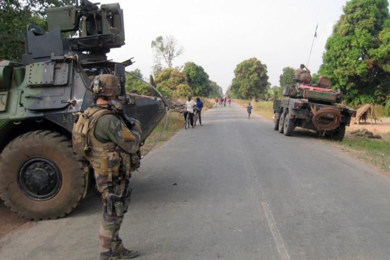 Les forces françaises à l'entrée de Sibut en Centrafrique le 1er février 2014 (illustration)