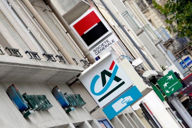 Logos de banques, à Rennes, le 12 septembre 2011 (illustration)