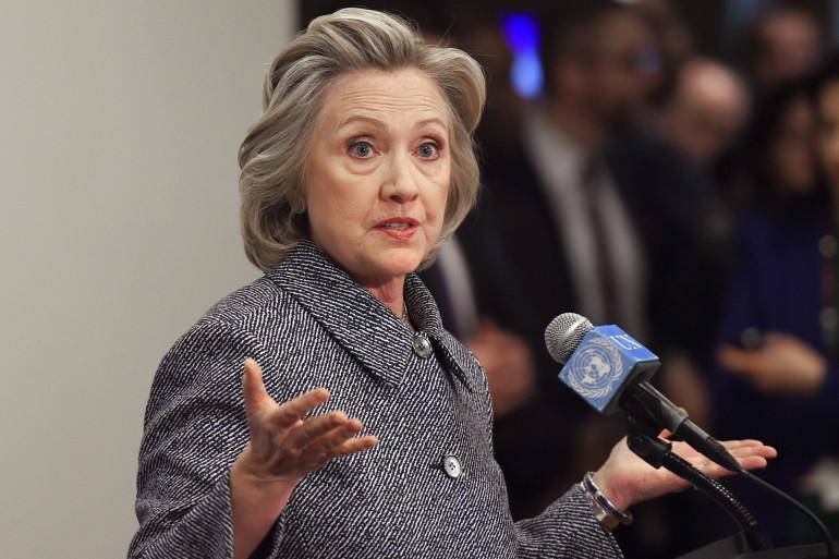 Hillary Clinton à New York, le 10 mars 2015.