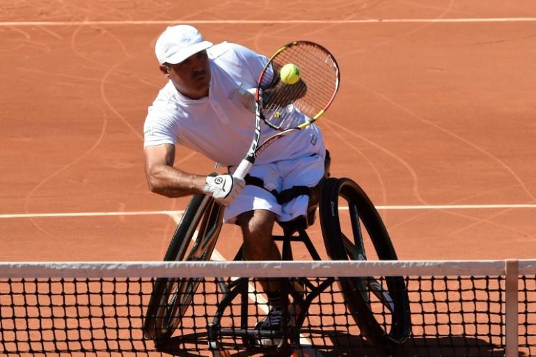 Stéphane Houdet à Roland-Garros, le 6 juin 2014