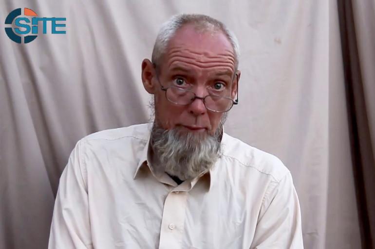 Sjaak Rijke dans une vidéo diffusée par Aqmi en novembre 2014.