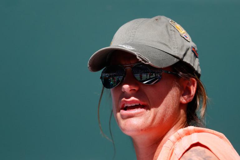 Amélie Mauresmo le 16 mars 2015 à Indian Wells