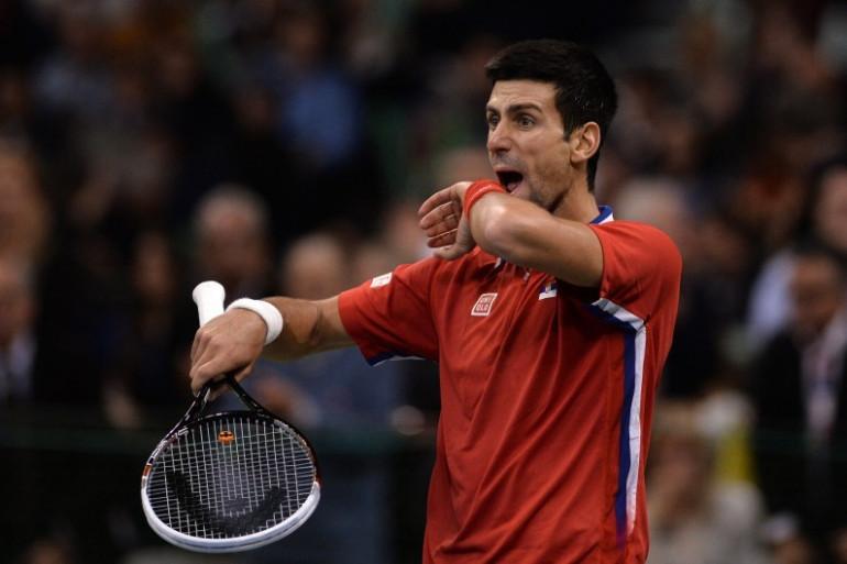 Novak Djokovic en Coupe Davis en novembre 2013