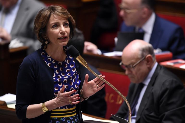 La ministre de la Santé Marisol Touraine le 8 avril 2015 à l'Assemblée.