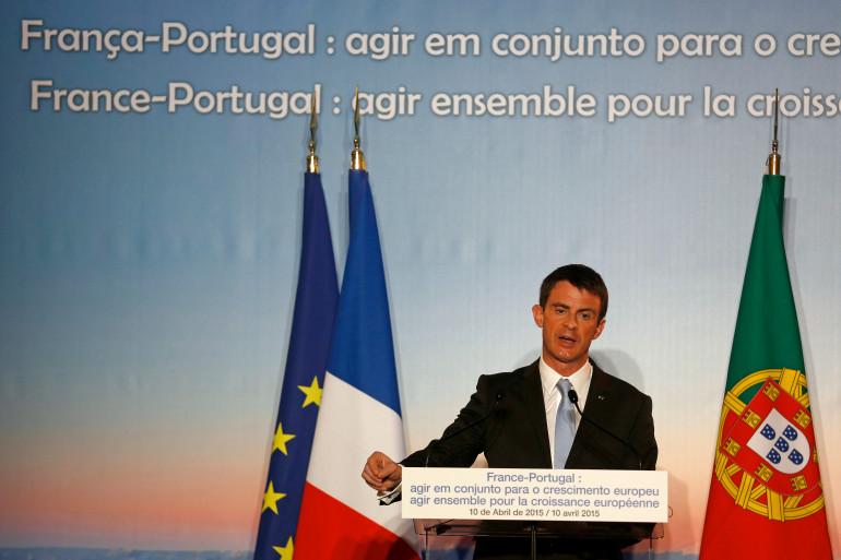 Manuel Valls à Lisbonne le 10 avril 2015