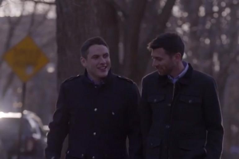 Jared et Nate sont tombés des nues en découvrant que leur projet de mariage apparaissait dans le clip de candidature de Hillary Clinton