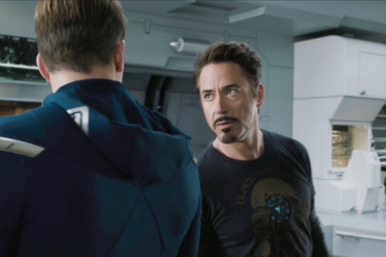 """Captain America et Iron Man se déchirent dans """"Avengers 2"""""""