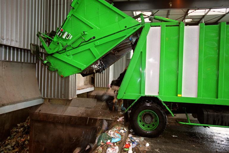 Illustration d'une benne à ordure.