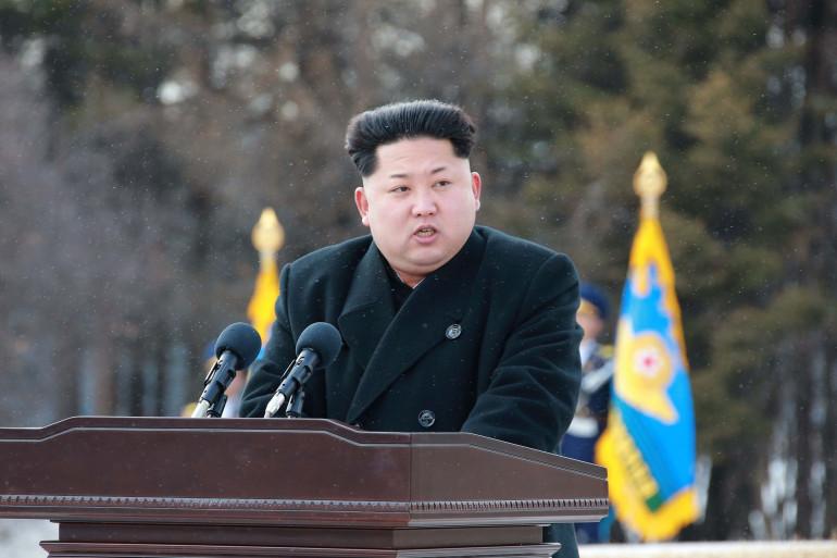 Une photo officielle de Kim Jong-Un transmise le 20 avril 2015.