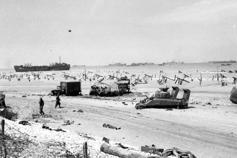 Omaha Beach, le 6 juin 1944 lors du débarquement allié