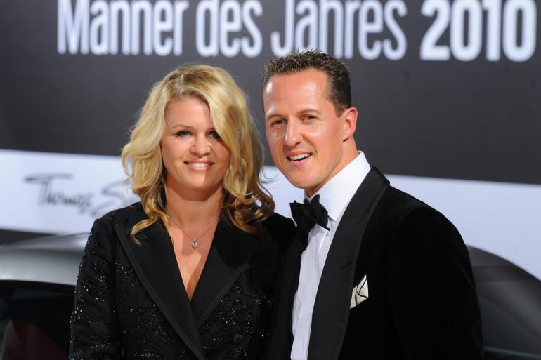 Corinna et Michael Schumacher le 29 octobre 2010.