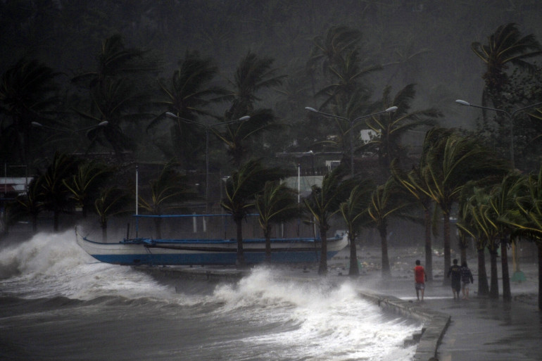 Le typhon Hagupit est le plus puissant à toucher les Philippines cette année, ici le 7 décembre 2014. (illustration)