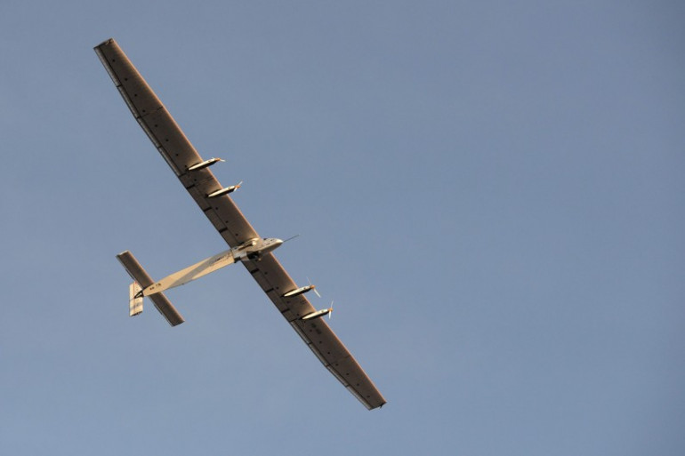 L'avion solaire Solar Impulse 2 survole l'Inde, le 18 mars 2015