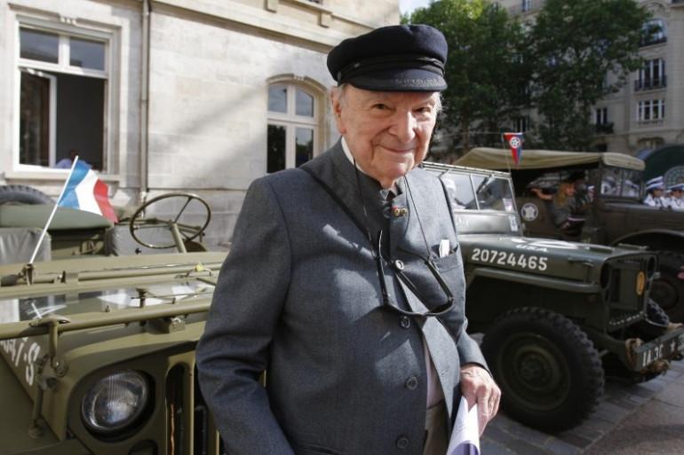 """Franck Bauer, ancien speaker à """"Radio Londres"""", le 17 juin 2009 à Paris"""
