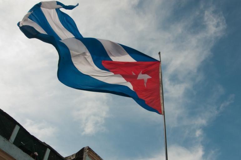 Le drapeau cubain flottant sur La Havane, le 18 octobre. (archives)