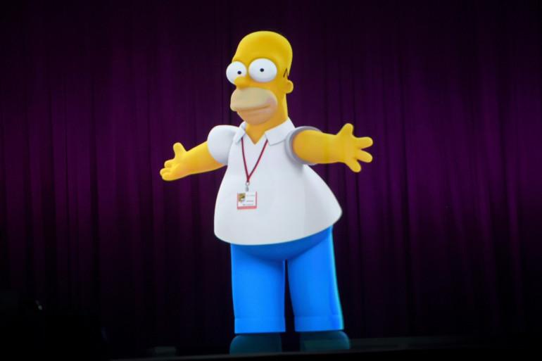 """Le personnage de Homer Simpson, au festival """"Comic-Con"""" de San Diego, en 2014"""