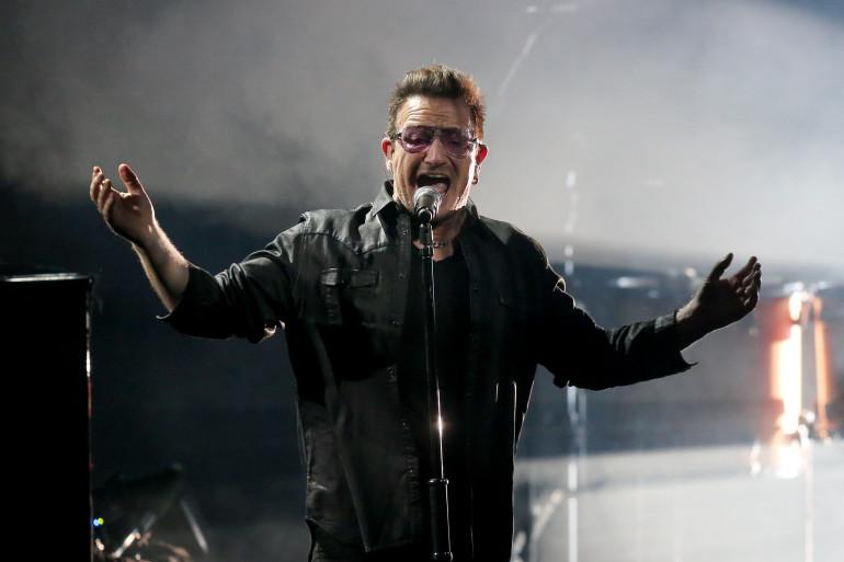 Bono pendant la tournée groupe en Allemagne (image d'illustration)